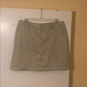 Women's khaki skort size 12
